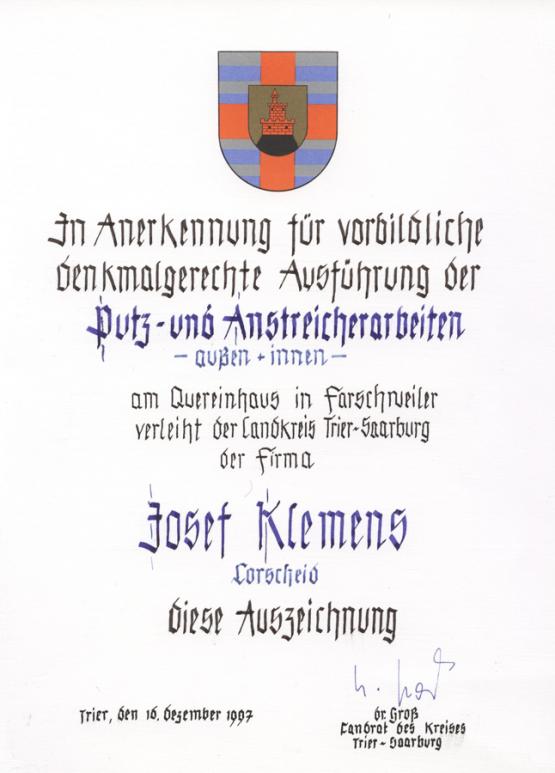 Auszeichnung des Landkreises Trier-Saarburg